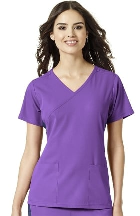 Aero by WonderWink Women's Racerback Solid Scrub Top