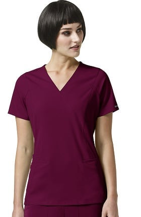 Clearance High Performance by WonderWink Women's Axis Mock Wrap Solid Scrub Top