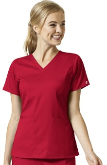 PRO by WonderWink Women's Contoured Solid Scrub Top