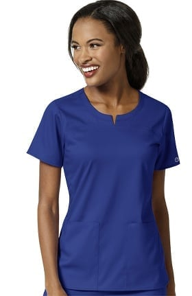 PRO by WonderWink Women's Notched Neck Solid Scrub Top