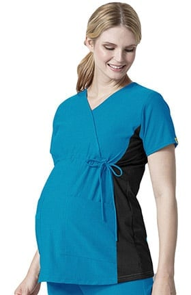 Easy Fit by WonderWink Women's Mock Crossover Maternity Scrub Top