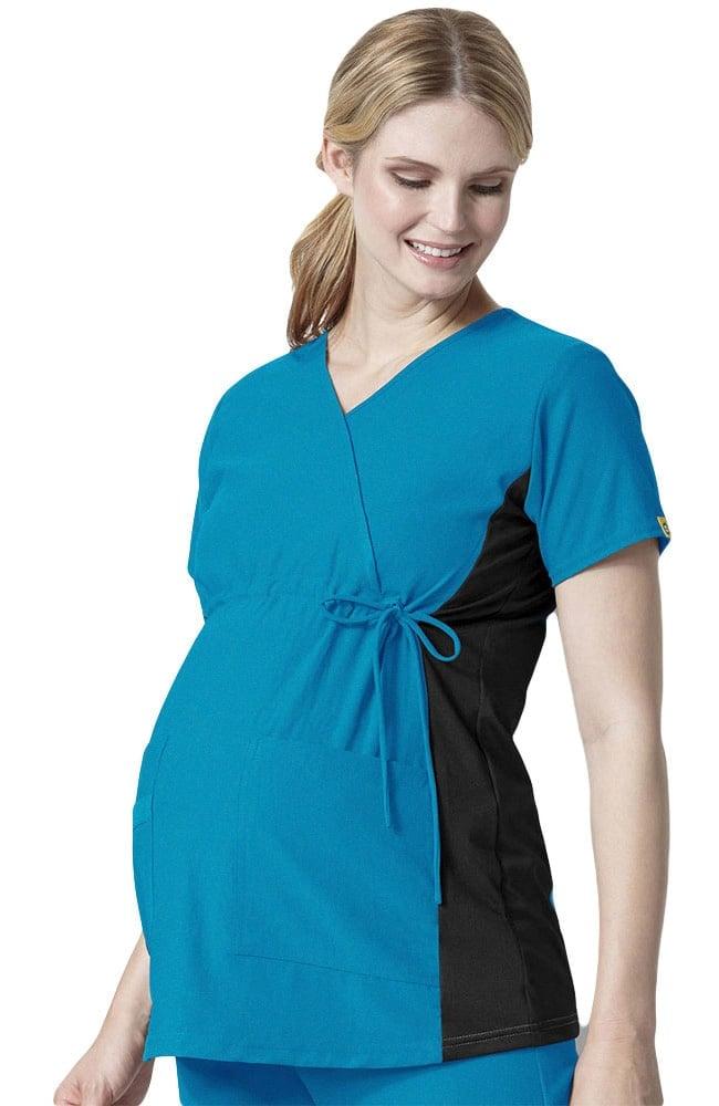 60c9cbfb319 Easy Fit by WonderWink Women's Mock Crossover Maternity Scrub Top