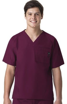 Origins by WonderWink Men's Raglan Sleeve Solid Scrub Top