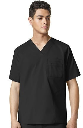 Clearance WonderFlex by WonderWink Men's V-Neck Solid Scrub Top