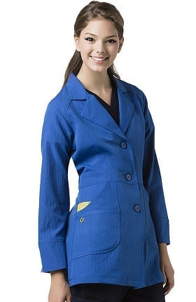 "Clearance Four Stretch by WonderWink Women's Ermance 32"" Lab Coat"