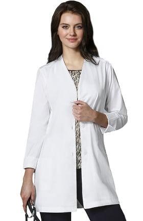 """Wonderlab by WonderWink Women's Stand Collar 35"""" Lab Coat"""