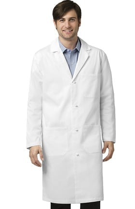 "Clearance Wonderlab by WonderWink Men's Knot Button 42"" Lab Coat"