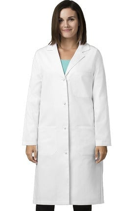 "Clearance Wonderlab by WonderWink Women's Knot Button 42"" Lab Coat"