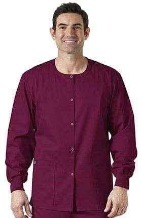 WonderWORK Unisex Snap Front Scrub Jacket