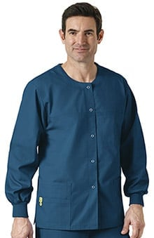 Origins by WonderWink Unisex Delta Snap Front Solid Scrub Jacket