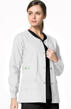 Clearance WonderFLEX by WonderWink Women's Constance Snap Front Solid Scrub Jacket