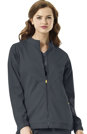 Clearance Next by WonderWink Women's Boston Zip Front Warm Up Scrub Jacket