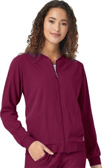 Aero by WonderWink Women's Bomber Solid Scrub Jacket