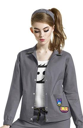 Clearance I Love WonderWink Women's Denim Style Solid Scrub Jacket
