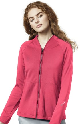 WonderFLEX by Wonderwink Women's Fleece Solid Scrub Jacket