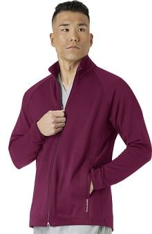 Layers by WonderWink Men's Fleece Solid Scrub Jacket