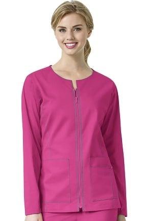 Clearance 7Flex by WonderWink Women's Zip Front Solid Scrub Jacket