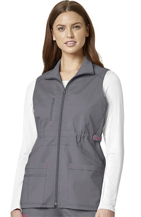 WonderFLEX by WonderWink Women's Serenity Solid Scrub Vest