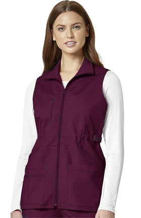 Clearance WonderFLEX by WonderWink Women's Serenity Solid Scrub Vest