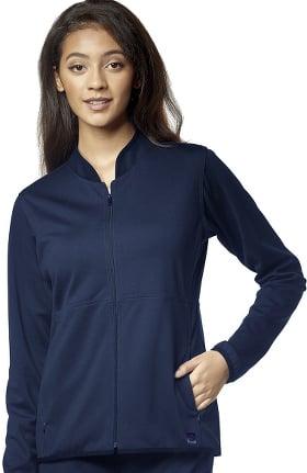 Aero by WonderWink Women's Ponte Knit Solid Scrub Jacket