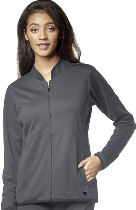 Aero by WonderWink Women's Ponte Knit Solid Scrub Jacket