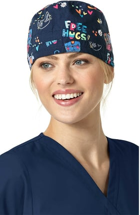 ee3411c3a98 ... france origins by wonderwink womens pets print scrub cap c4467 14349
