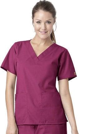 Clearance Carhartt Women's V-Neck 2-Pocket Solid Scrub Top