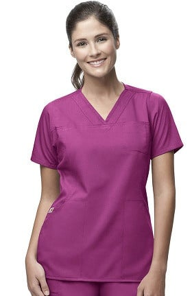 Clearance Carhartt Women's 4 Pocket Y-Neck Solid Scrub Top