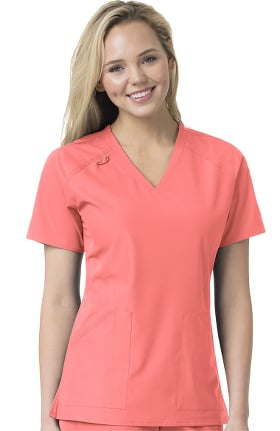 Liberty by Carhartt Women's Multi Pocket V-Neck Solid Scrub Top