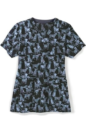 CROSS-FLEX by Carhartt Women's Good Boy Print Scrub Top
