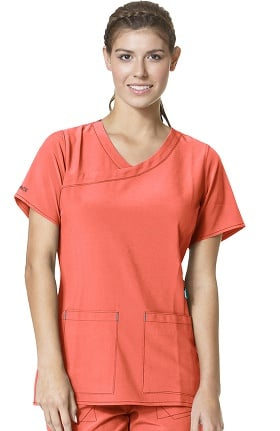 CROSS-FLEX by Carhartt Women's Y-Neck Fashion Solid Scrub Top