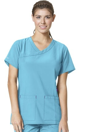 Clearance CROSS-FLEX by Carhartt Women's FORCE Y-Neck Fashion Solid Scrub Top