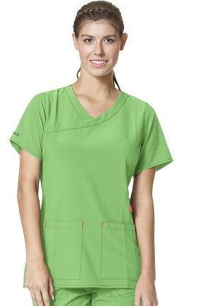 Clearance CROSS-FLEX by Carhartt Women's Y-Neck Fashion Solid Scrub Top