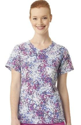 CROSS-FLEX by Carhartt Women's Y-Neck Blossom Breeze Print Scrub Top