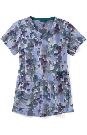 Clearance CROSS-FLEX by Carhartt Women's Love And Care Print Scrub Top
