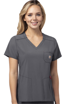 CROSS-FLEX by Carhartt Women's Peplum Solid Scrub Top
