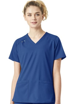 Liberty by Carhartt Women's Comfort V-Neck Utility Solid Scrub Top