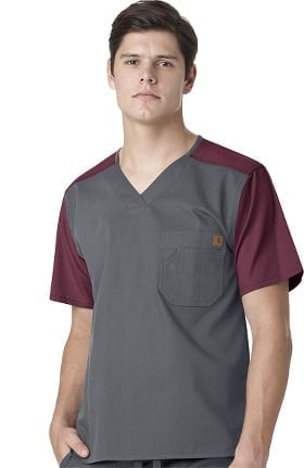 Ripstop by Carhartt Men's Color Block Utility Solid Scrub Top