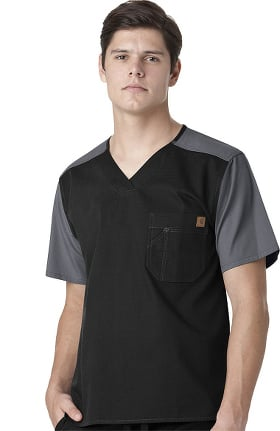 Clearance Ripstop by Carhartt Men's Colorblock Utility Solid Scrub Top