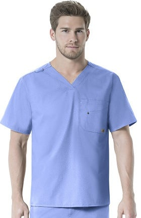 Rockwall by Carhartt Men's FORCE V-Neck Solid Scrub Top