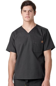 Ripstop by Carhartt Men's V-Neck Utility Solid Scrub Top