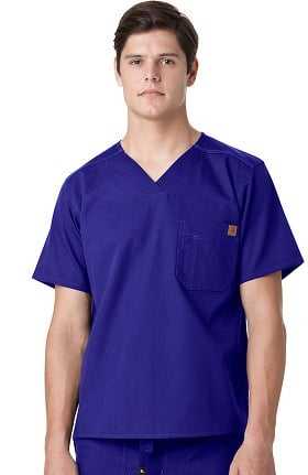 Clearance Ripstop by Carhartt Men's V-Neck Utility Solid Scrub Top