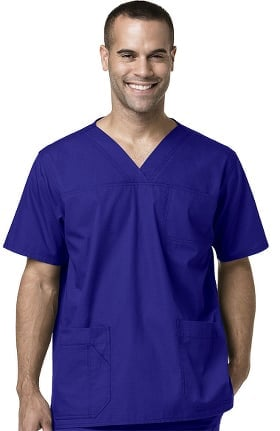 Clearance Ripstop by Carhartt Men's Multi-Pocket Solid Scrub Top