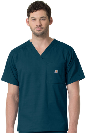 CROSS-FLEX by Carhartt Men's Slim Fit Pocket Solid Scrub Top