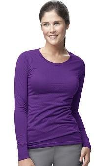 CROSS-FLEX by Carhartt Women's Long Sleeve Burn Out Solid Underscrub