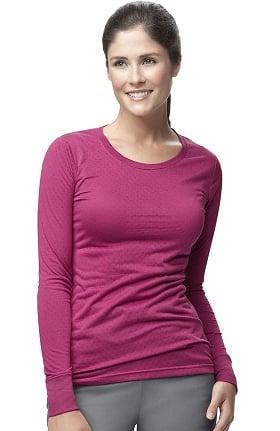 Clearance CROSS-FLEX by Carhartt Women's Long Sleeve Burn Out Solid Underscrub