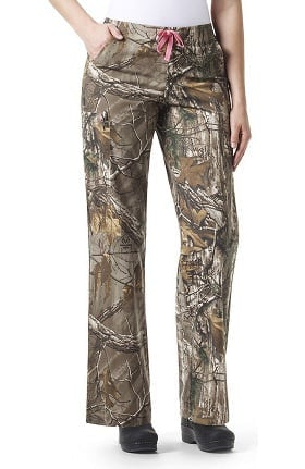 RealTree by Carhartt Women's Bootcut Cargo Abstract Print Scrub Pant