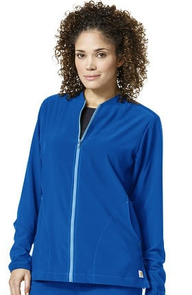 Clearance Cross-Flex by Carhartt Women's FORCE Zip Front Solid Scrub Jacket