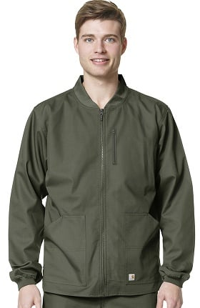 Ripstop by Carhartt Men's Zip Front Scrub Jacket
