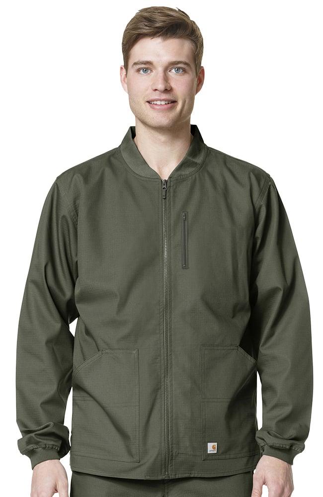 Ripstop by Carhartt Men's Zip Front Scrub Jacket ...